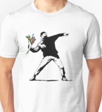 Banksy Flowers Unisex T-Shirt