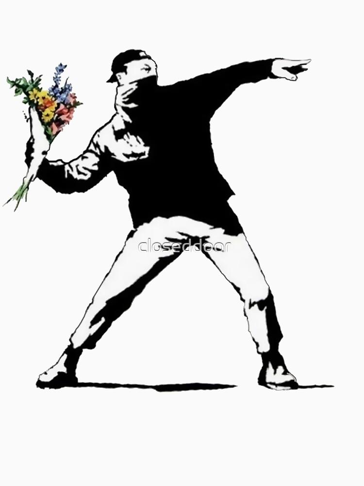Banksy Flowers by closeddoor