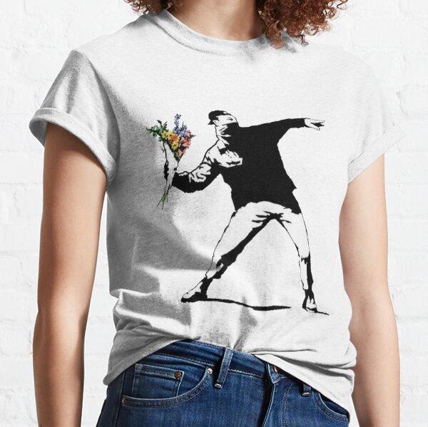 Flores de Banksy Camiseta clásica
