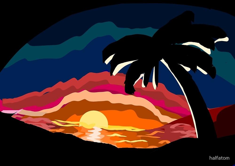 Tropical Sundown by halfatom