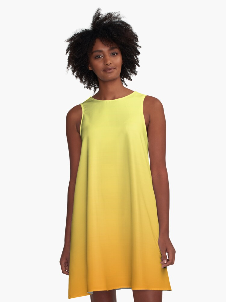 Tequila Sunrise A-Line Dress Front