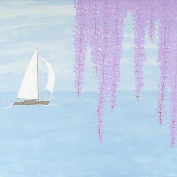 Sailing Purple flowers by karriezenz