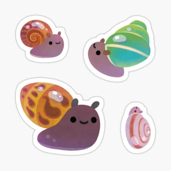 Land snail - dark Sticker