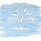 Tree Painting Blue by karriezenz