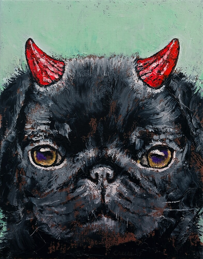 Devil Pug by Michael Creese