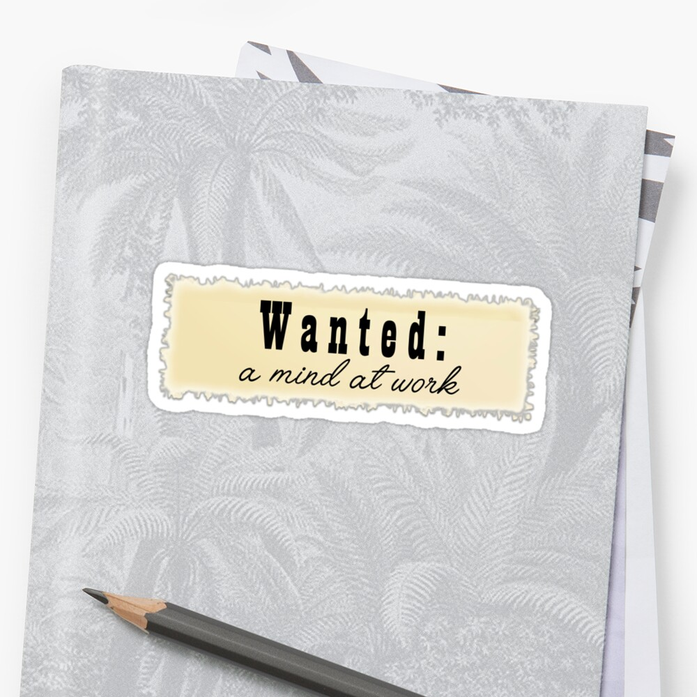 Wanted: a mind at work - inspired by Angelica Schuyler in Hamilton by tziggles