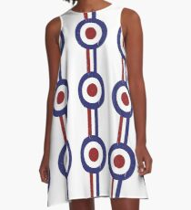 Weathered Target and stripes A-Line Dress