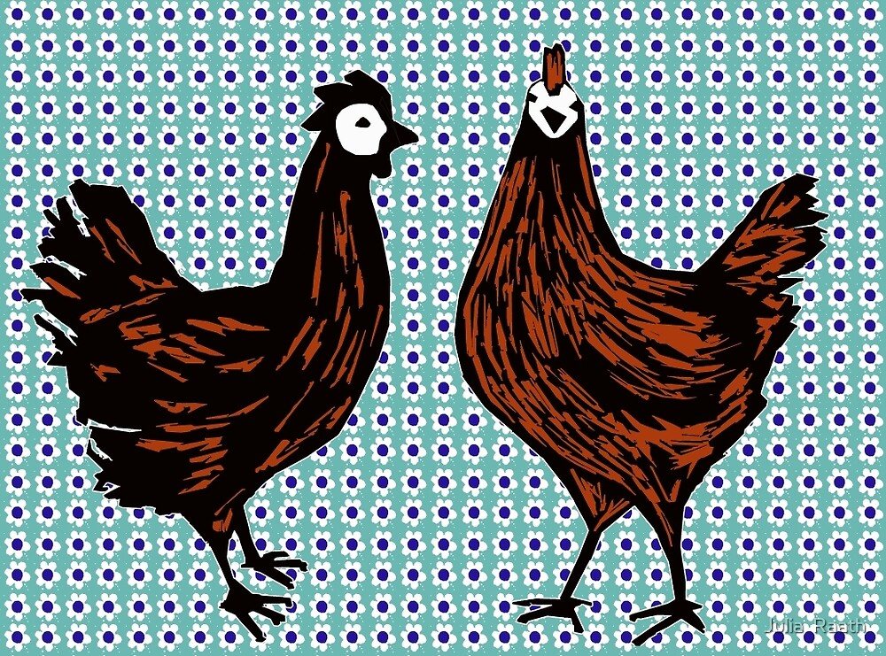 Chatting Chooks by Julia  Raath