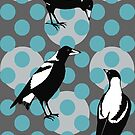 Merry Magpies  by Julia  Raath