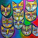 Ten Cheeky Cats  by Karin Zeller