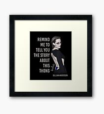 Gillian Anderson: Thong Series Framed Print