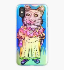 Retro-Cute Fairy Tale Kitty Drawing iPhone Case/Skin
