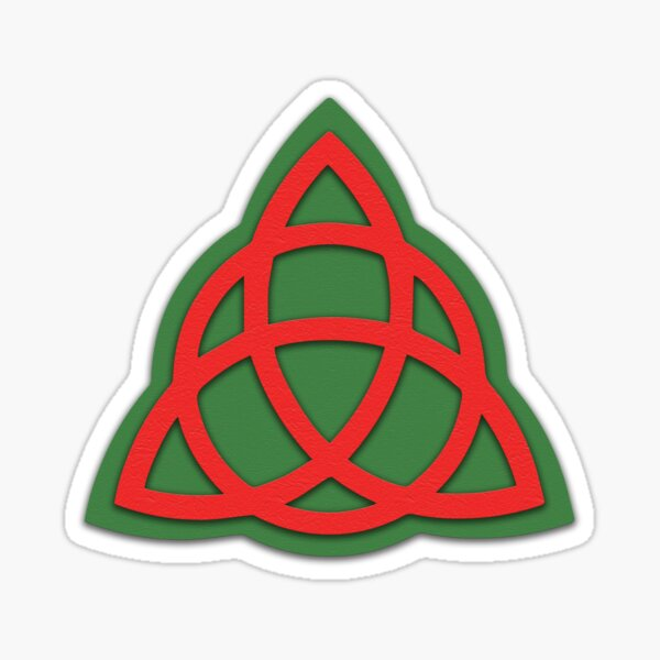 Charmed Book of Shadows Triquetra Pegatina
