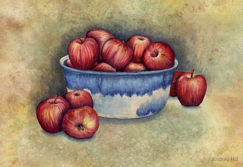 Bowl of Apples by Andrea Hill