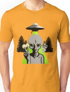 Smoking Alien Unisex T-Shirt