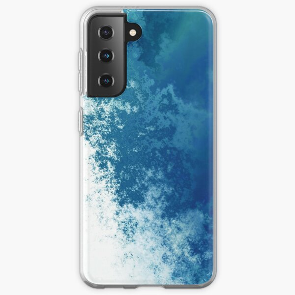 Blue  Watercolor Abstract Expressionism art paint texture design.  iPhone and Samsung Galaxy case cover Samsung Galaxy Soft Case
