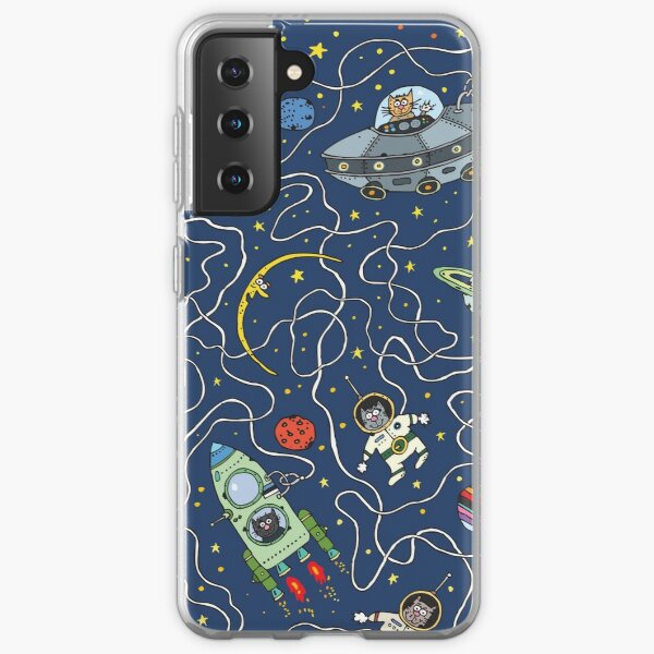 Space astronaut cosmic cats design.  iPhone and Samsung Galaxy case cover Samsung Galaxy Soft Case