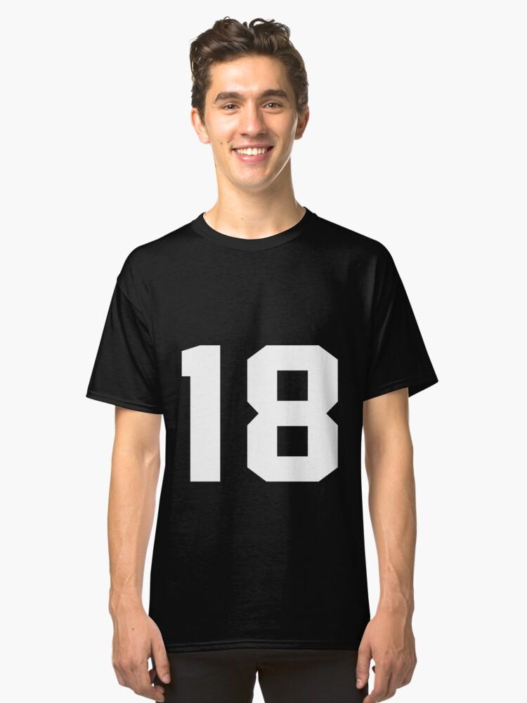 Team Jersey 18 T-shirt / Football, Soccer, Baseball Classic T-Shirt Front