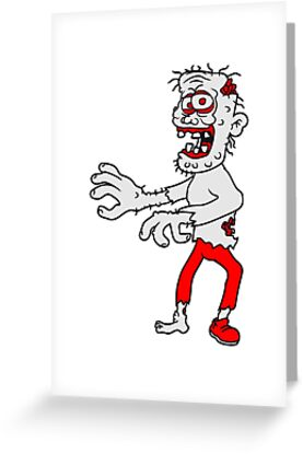 old man zombie cool disgusting running horror monster halloween comic cartoon by Motiv-Lady
