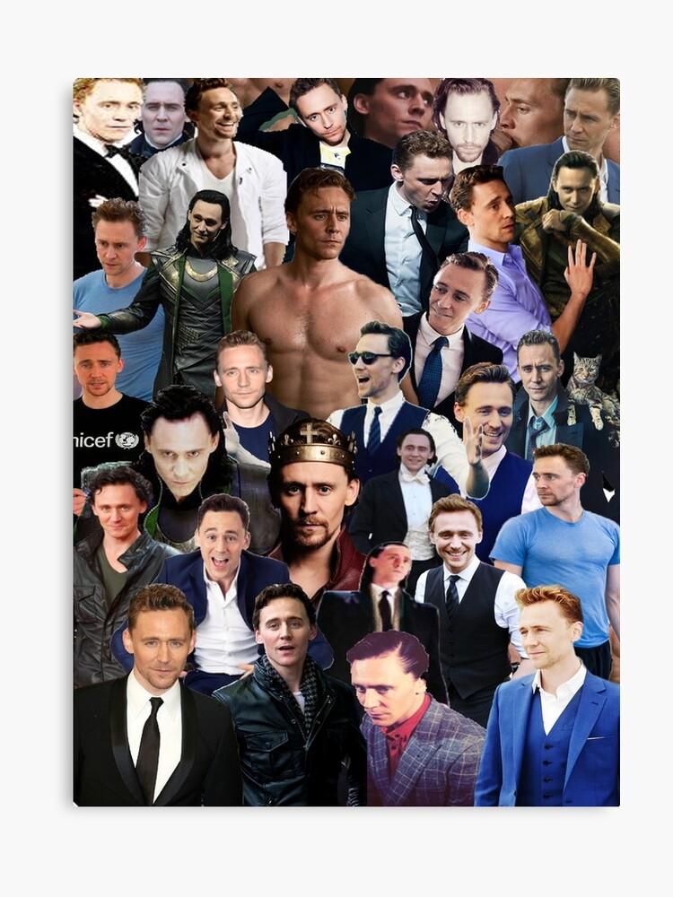 Tom Hiddleston Collage | Canvas Print