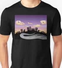 Sunset City and Road Silhouette 2 Unisex T-Shirt