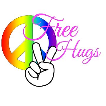 Free Hugs! White and Pink by loki13outlaw