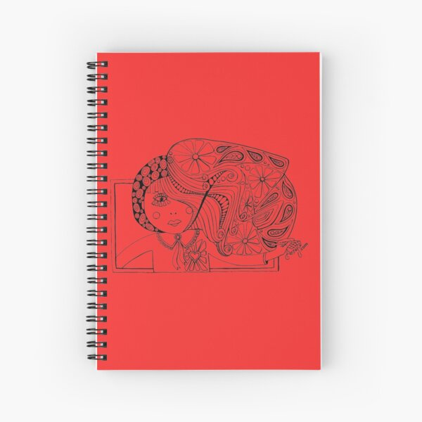 Drawing girl Spiral Notebook