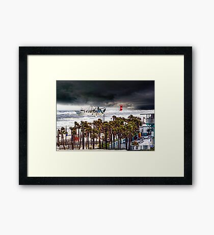 Racing The Storm-For Jody 1948-2016 Framed Print