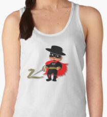 Retro Kid Billy features the legendary Zorro  Women's Tank Top