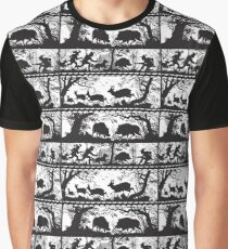 Bavarian Forest Scenes Deer and Wild Boar Graphic T-Shirt