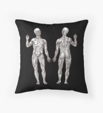 Muscle Men Fitness Addict Throw Pillow
