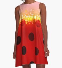 miraculous ladybug designs 2/3 A-Line Dress