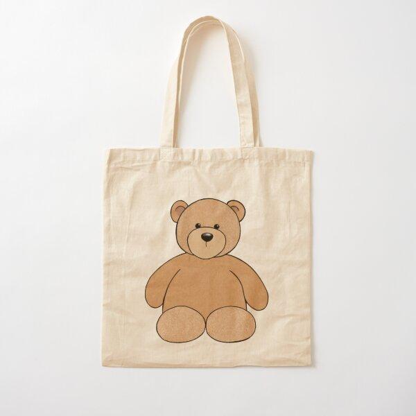 Cute Little Gentleman Teddy Bear Cotton Canvas Tote Bag