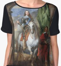 Vintage famous art - Anthony Van Dyck - Charles I With Monsieur De St Antoine Chiffon Top