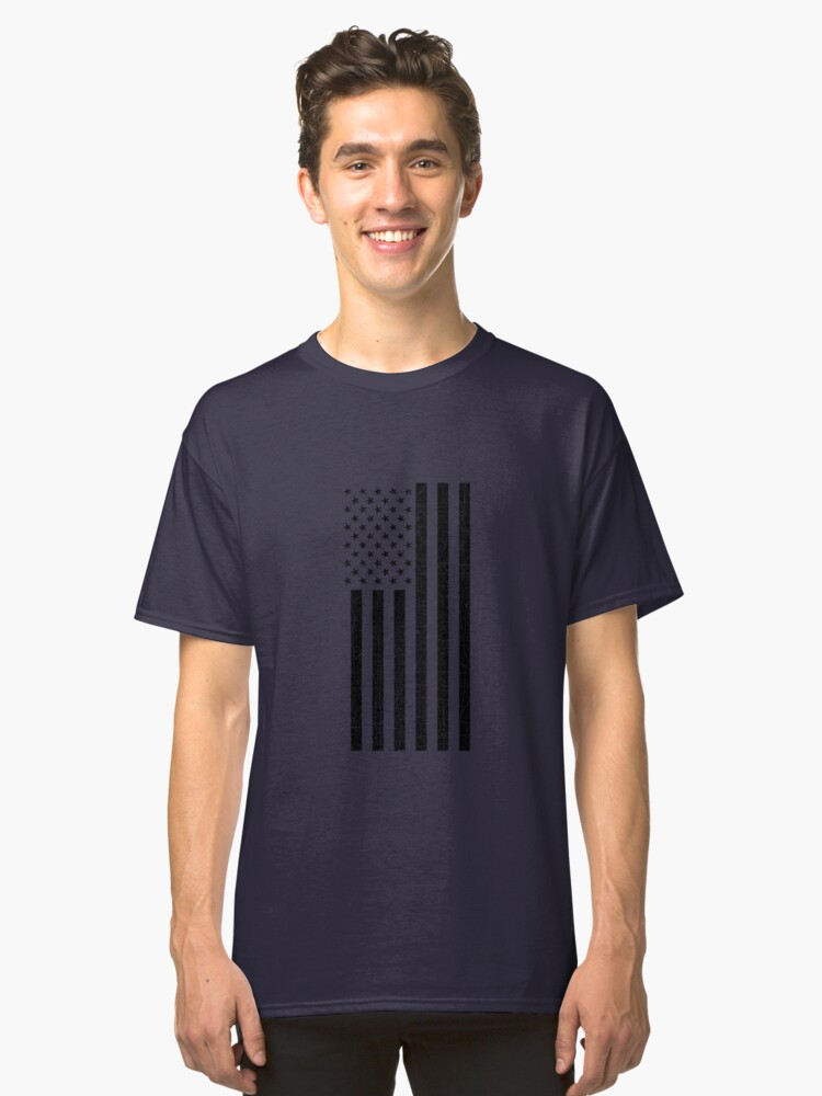 Vertical American Flag T-Shirt / All sizes / Patriotic Colors Classic T-Shirt Front