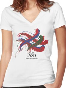 Clan Ross  Women's Fitted V-Neck T-Shirt