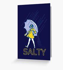 Tarjeta de felicitación No seas salado