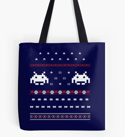 Holiday Invaders Tote Bag