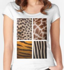 Textures of the Wild Women's Fitted Scoop T-Shirt