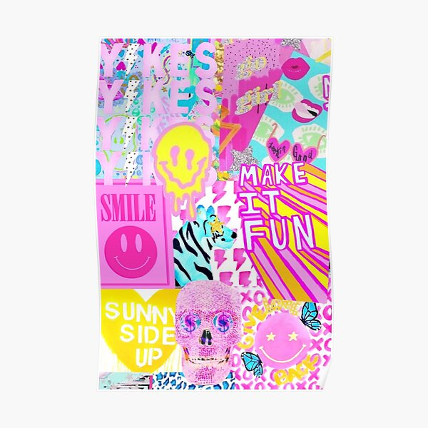 preppy collage Poster
