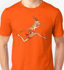 Slender gazelle running and performing a long jump Slim Fit T-Shirt