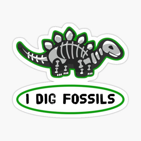 I Dig Fossils Sticker