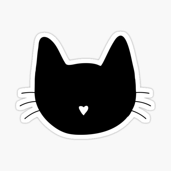 Cat Heart Nose Sticker