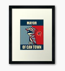 Mayor of Can Town Framed Print