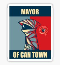 Mayor of Can Town Sticker