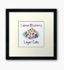 Lemon Blueberry Layer Cake Framed Print