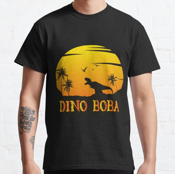 Graphic Vintage Dino Boba's Gift Men Women Classic T-Shirt