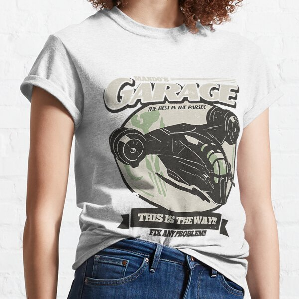 Graphic Vintage Mando's Garage Men Women Classic T-Shirt