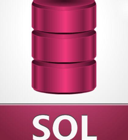 mysql database programming language sticker Sticker