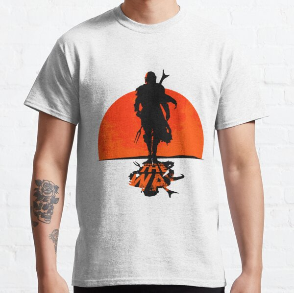 Graphic Vintage This Is The Way Gift Red Sun Din Djarin Mando's Men Women Classic T-Shirt